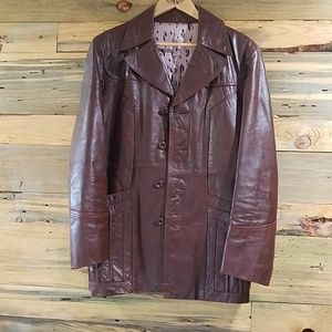 Other - FIGHT CLUB 70s Leather Jacket NWT